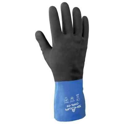 Guante Showa Chm, Neopreno/latex-negro/azul, 26-mil, 12-in