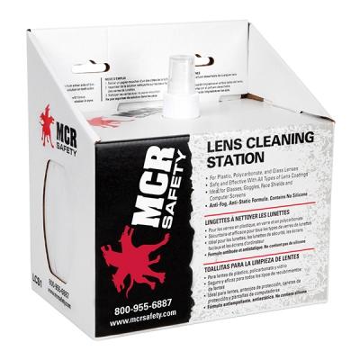 Estacion De Limpieza De Lentes Mcr, Liquido 8-oz, 600-toallitas