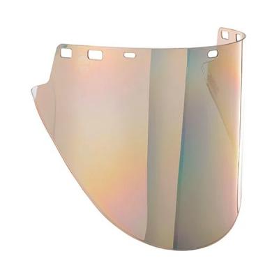 Visor Jackson F50, H-shape, Pc-moldeado, Mica Reflejante De Oro