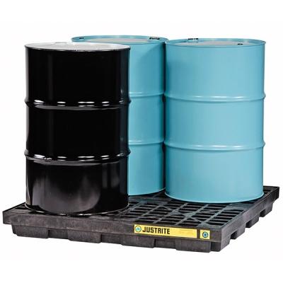 Plataforma Justrite Ecopolyblend, Negro, 4-tambores