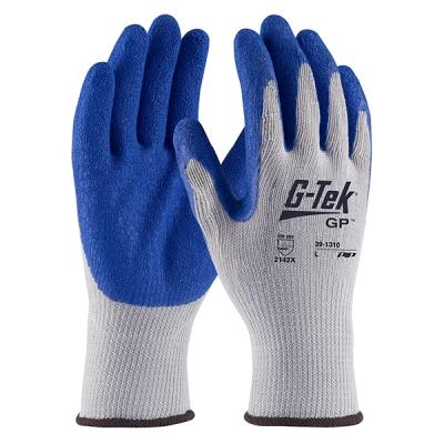 Guante G-tek Gp, Alg/pol-gris, Palma-latex Azul, Ruguso
