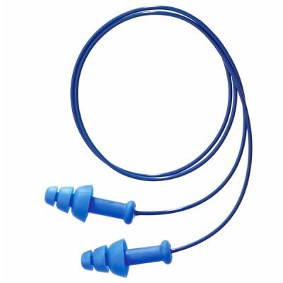 Tapon Auditivo Smartfit, Azul, Lavable Con-cordon, 25-db
