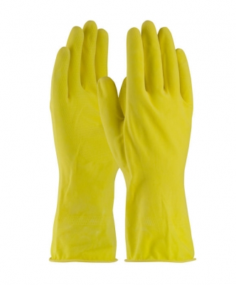Guante De Latex De 12-in 16-mil Color Amarillo