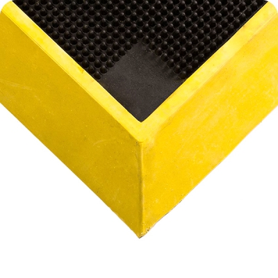 Tapete Tall Wall Sanitizing Footbath, 2-1/2 X 32 X 39-in, Negro/amarillo